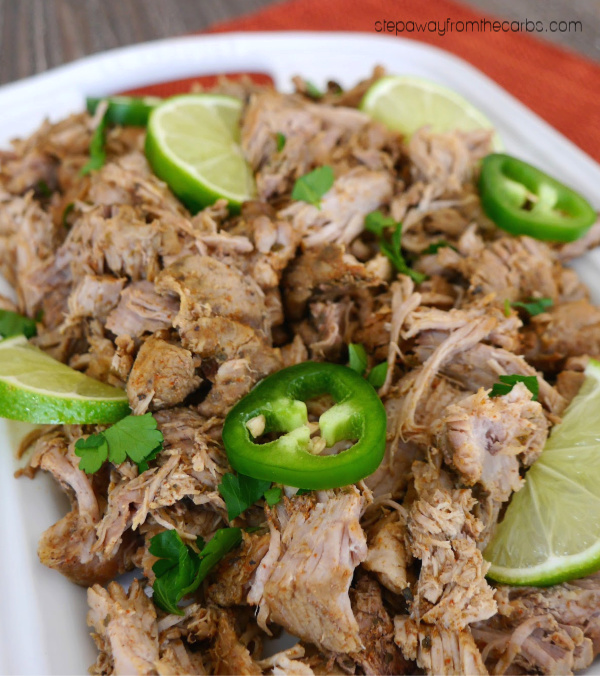 Low Carb Carnitas - an almost zero carb recipe made in the slow cooker or Instant Pot