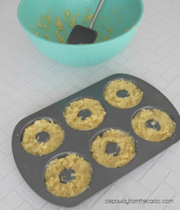 Low Carb Donuts with Caramel Glaze - a sugar free, gluten free, and keto recipe!