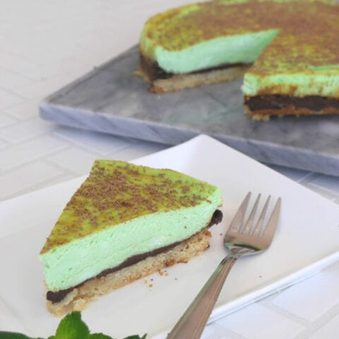 Low Carb Grasshopper Cheesecake