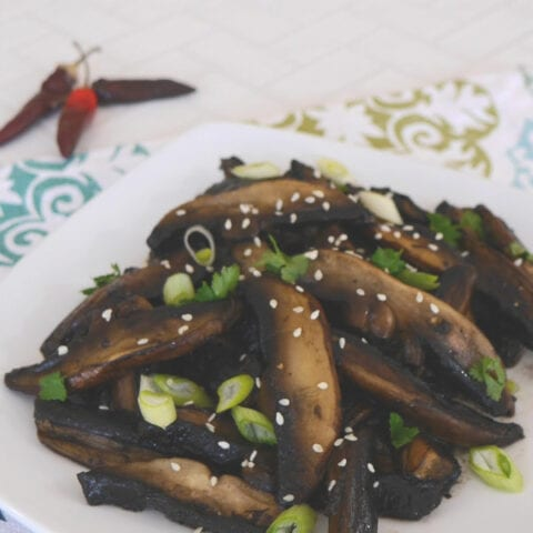 Low Carb Mushrooms with a Sweet and Spicy Sauce