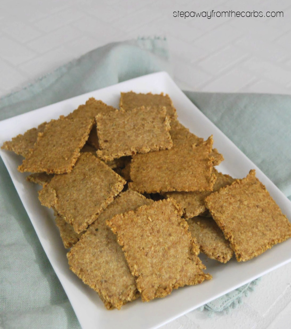 Low Carb Sunflower Seed Crackers - two ingredient easy recipe