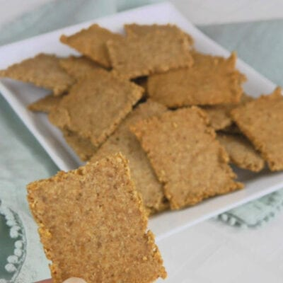 Low Carb Sunflower Seed Crackers