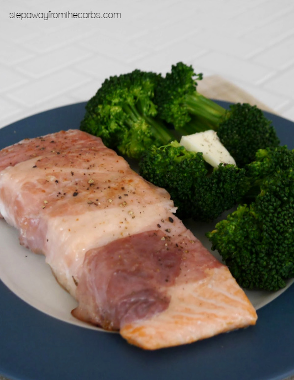 Prosciutto Wrapped Salmon - a low carb and keto friendly recipe.