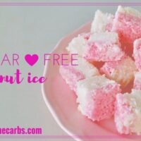 Sugar Free Coconut Ice