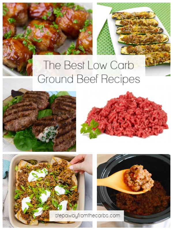 The Best Low Carb Ground Beef Recipes - all keto friendly
