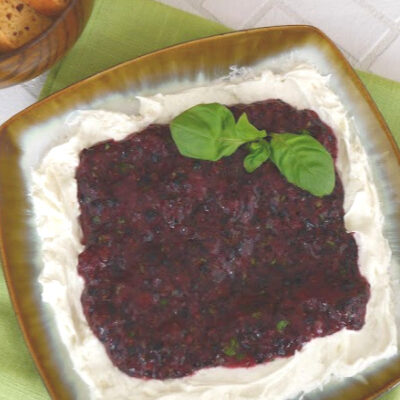 Low Carb Blueberry Cream Cheese Dip