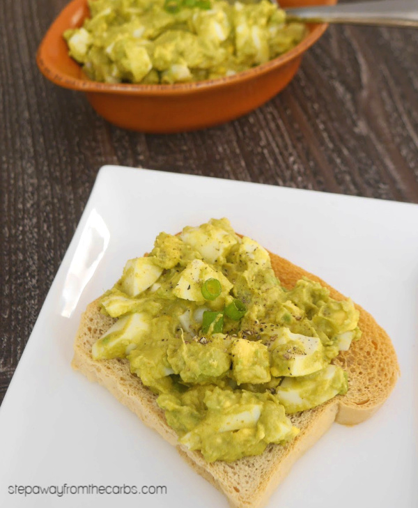Low Carb Curried Avocado Egg Salad - an amazing combination of flavors! Keto friendly recipe.
