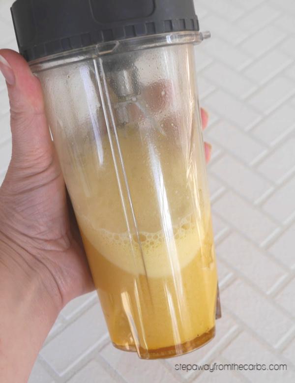 Low Carb Turmeric Shots - a healthy keto and sugar free drink