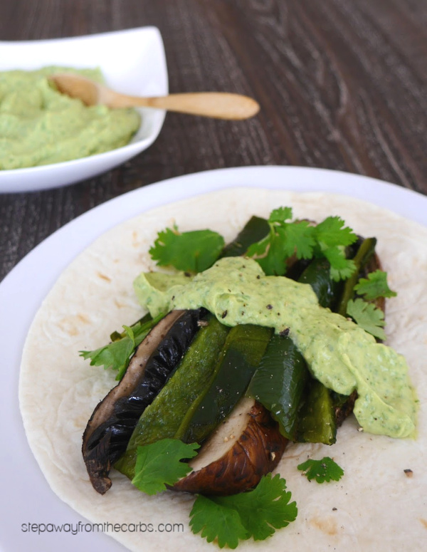 Low Carb Poblano and Mushroom Tacos - cooked on the grill!