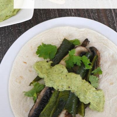 Low Carb Poblano Mushroom Tacos