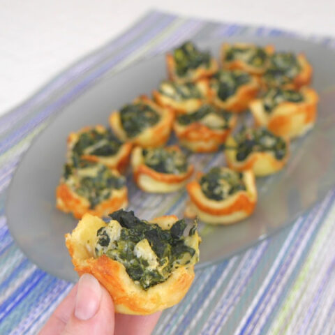 Low Carb Spinach Dip Bites