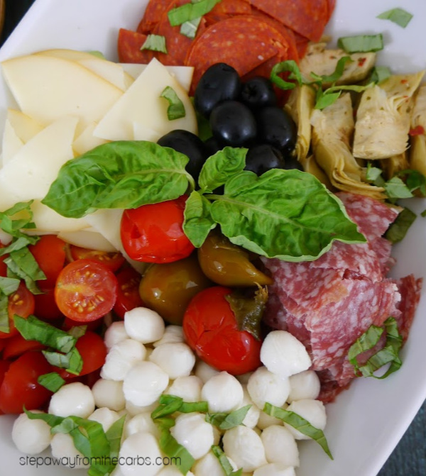 Low Carb Antipasto Salad - a delicious Italian appetizer, lunch, or side dish!