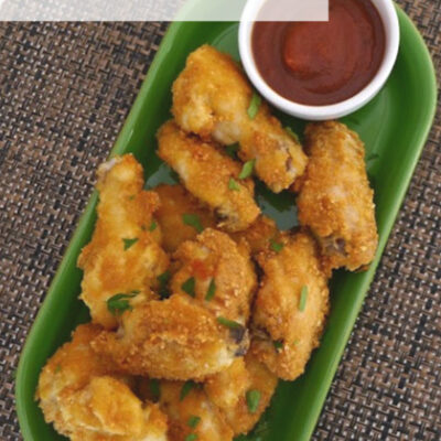 "Low Carb ""Fried"" Chicken Wings"