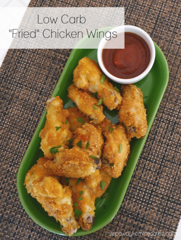 "Low Carb ""Fried"" Chicken Wings - 3 ingredient copycat KFC recipe. Keto and gluten free."