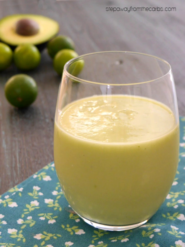 Low Carb Key Lime Smoothie - a keto friendly nutritious drink with avocado
