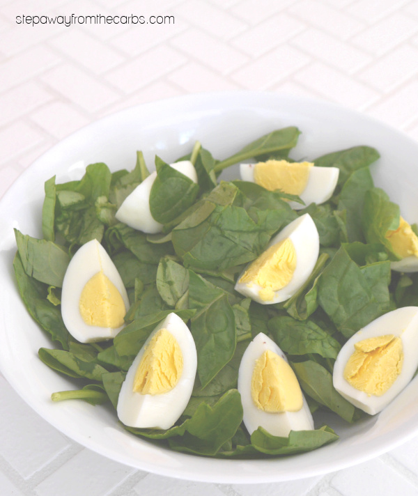 Low Carb Bacon Salad with Avocado and Egg