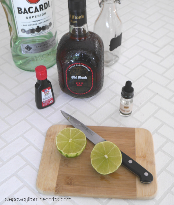 Low Carb Hurricane - a sugar free and keto friendly cocktail!