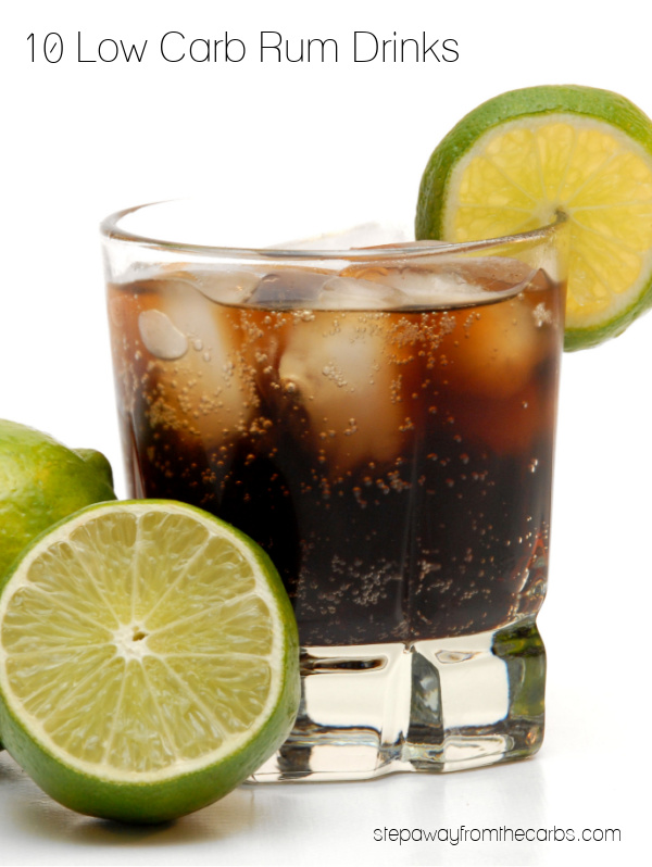 10 Low Carb Rum Drinks - all sugar free and keto friendly!
