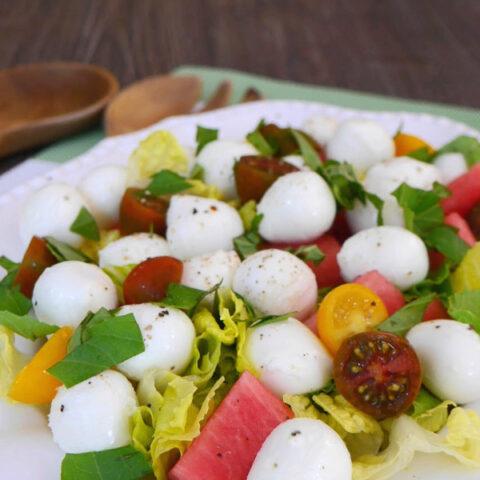 Mozzarella and Watermelon Salad