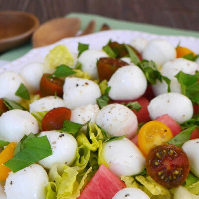 Mozzarella and Watermelon Salad