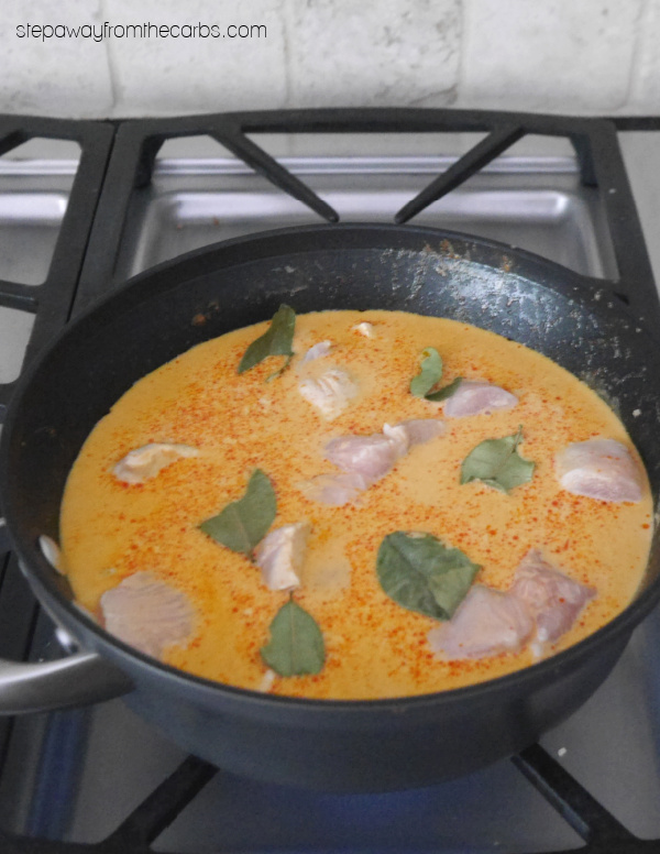 Low Carb Thai Red Curry - a tasty recipe that can be made mild or spicy!