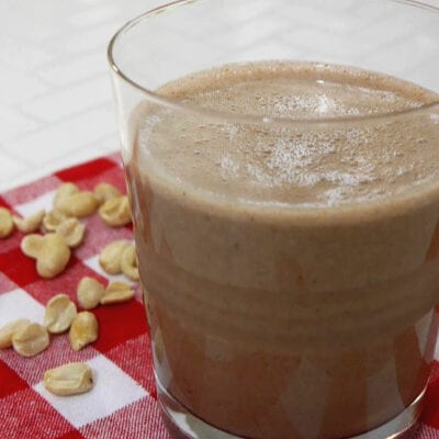 Low Carb Chocolate Peanut Butter Shake
