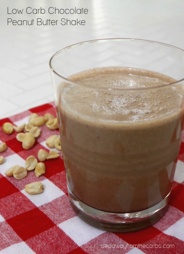 Low Carb Chocolate Peanut Butter Shake - a sugar free and keto recipe for any time of day!