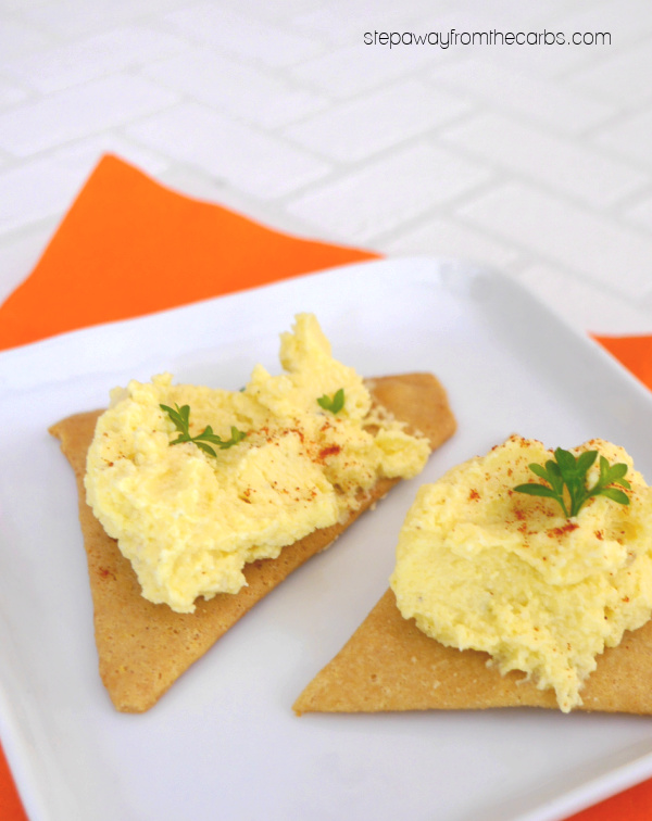 Low Carb Deviled Egg Canapés - a very easy keto-friendly appetizer recipe