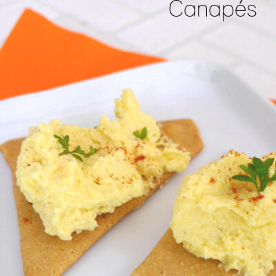 Low Carb Deviled Egg Canapés