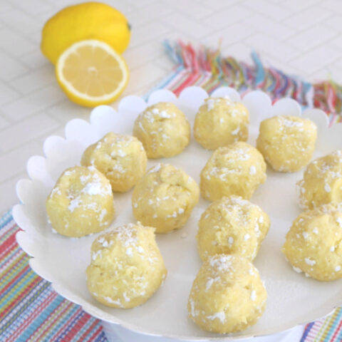 Low Carb Lemon Truffles