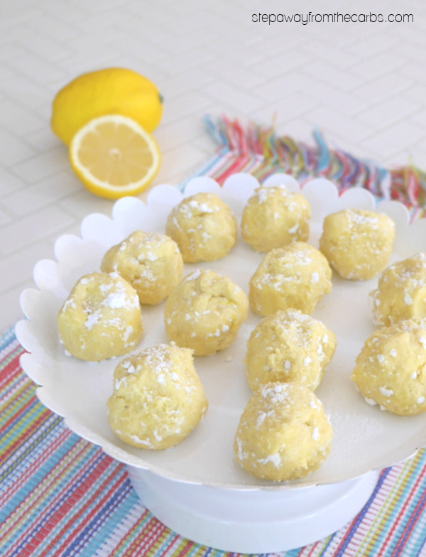 Low Carb Lemon Truffles - delicious sugar free and keto-friendly sweet treats!