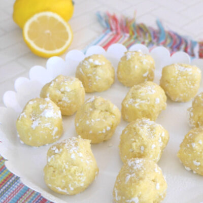 Low Carb Lemon Truffles