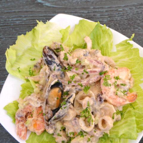 Low Carb Seafood Salad