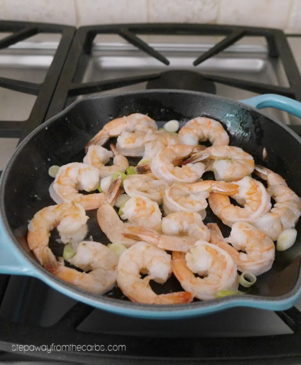Low Carb Shrimp with Lime and Cilantro - a quick and easy recipe with bold and bright flavors!