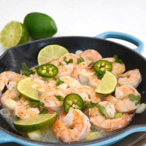 Low Carb Shrimp with Lime and Cilantro