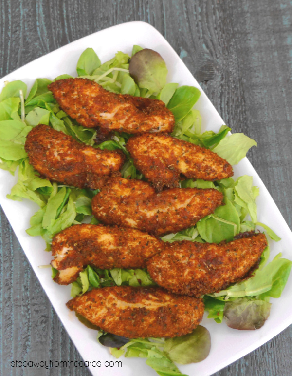 Low Carb Taco Chicken Tenders - gluten free and keto friendly recipe!