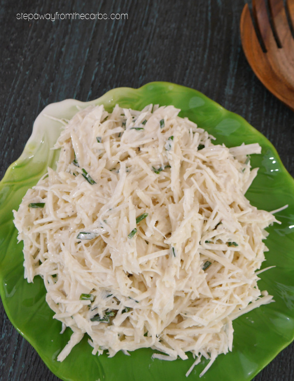 Low Carb Turnip Coleslaw - a tasty alternative to regular 'slaw! Keto friendly recipe.