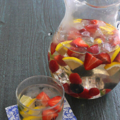 Low Carb White Wine Sangria
