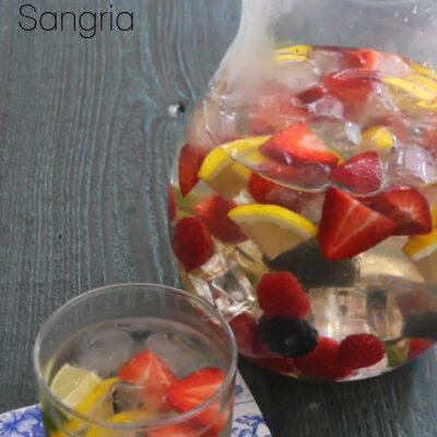 Low Carb White Wine Sangria
