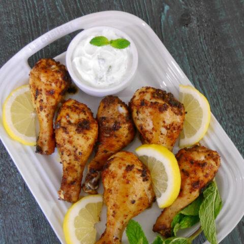 Keto Harissa Chicken Drumsticks