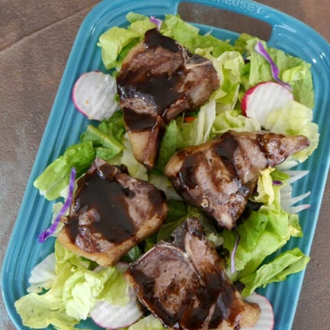 Lamb Chops with Low Carb Balsamic Dressing