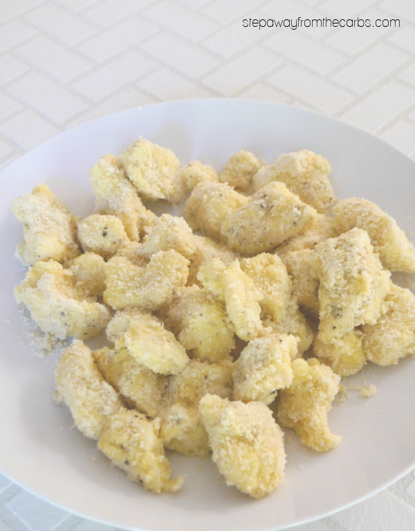 Low Carb Fried Cheese Curds - a super delicious keto friendly appetizer or snack
