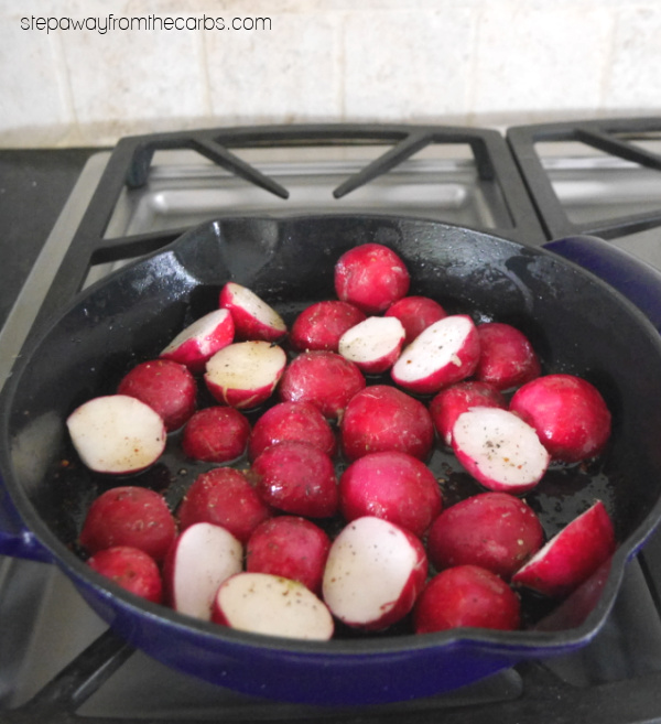 Low Carb Loaded Radishes - a delicious alternative to potatoes!