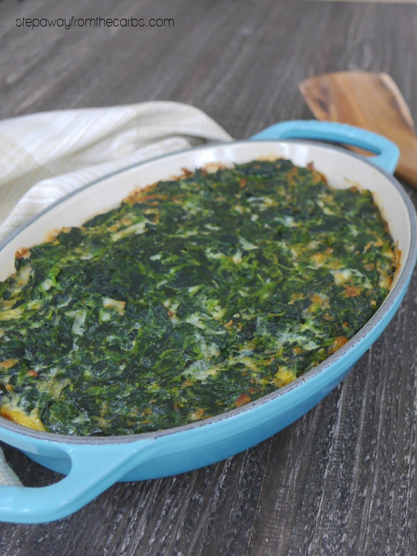 Low Carb Spinach Pie - a filling and delicious keto side dish recipe