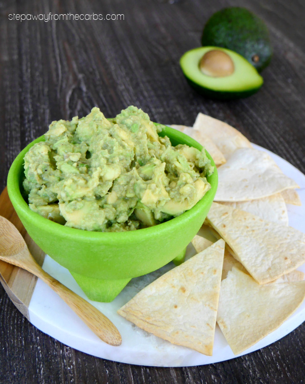 Low Carb Chunky Guacamole with Cumin - a deliciously tasty appetizer or snack!