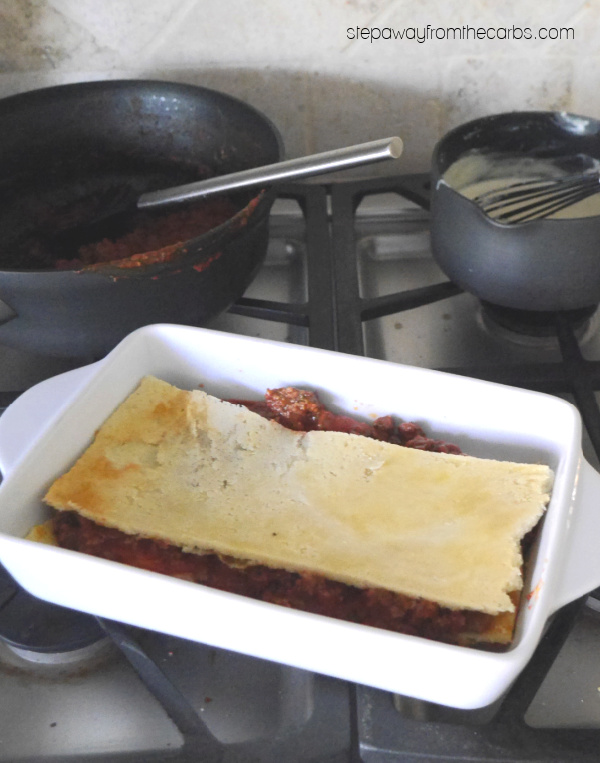 Fathead Lasagna - a low carb and high fat alternative to the classic Italian dish!