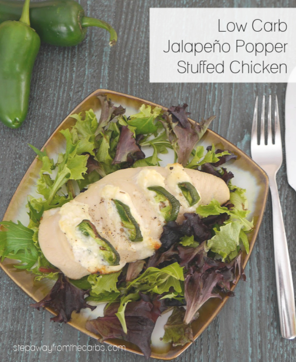 Low Carb Jalapeño Popper Stuffed Chicken - a spicy and creamy keto dinner recipe!