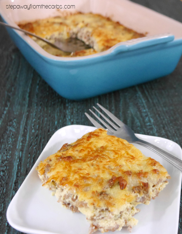 Low Carb Sausage Bake - a filling recipe to make for breakfast, brunch, or lunch!