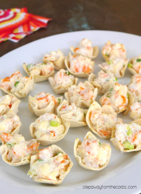 Low Carb Shrimp Cups - an easy and tasty appetizer recipe made with tortillas.