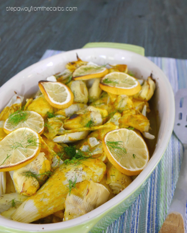 Low Carb Turmeric Chicken with Fennel and Artichoke - a delicious and fragrant meal